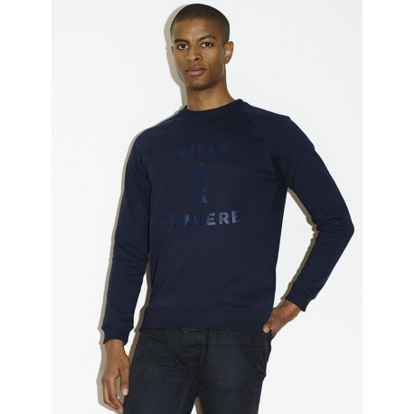 SWEAT VILLE LUMIERE 02 - BLEU NUIT