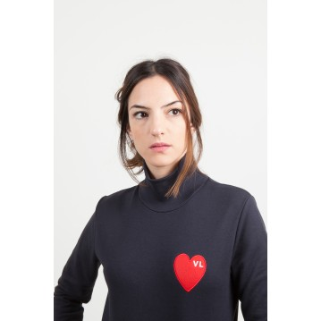 "SWEAT SHIRT ""COEUR"" - BLANC"