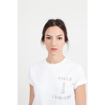 """T-SHIRT """"VILLE LUMIERE"""" - BLANC"""