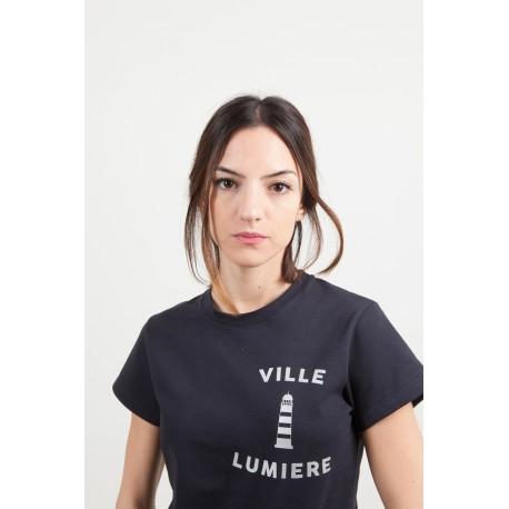 """T-SHIRT """"VILLE LUMIERE"""" BLANC"""